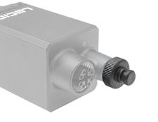 M8 GPIO IP67 Cap on a Lucid Vision Labs Triton Camera