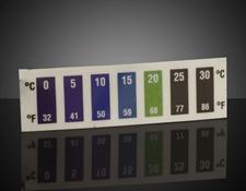 0 - 30°C Temp Range, Liquid Crystal Thermometers (10/Pack)